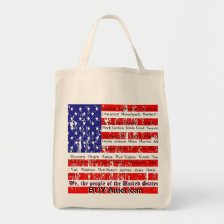 We the People Grocery Tote Bag