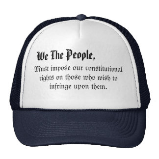 We the people hatfrom my constitution collection cap