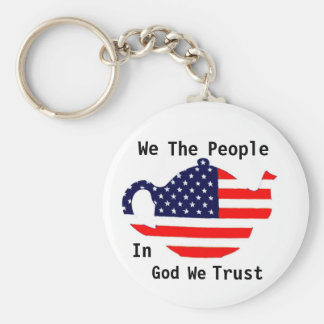 We The People In God We Trust Patriotic  Keychain