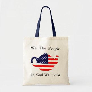 We The People In God We Trust Patriotic  Tote Bag Budget Tote Bag