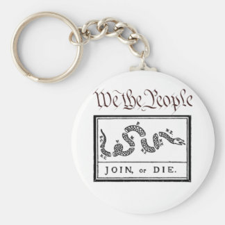 We the People... Join or Die Basic Round Button Key Ring