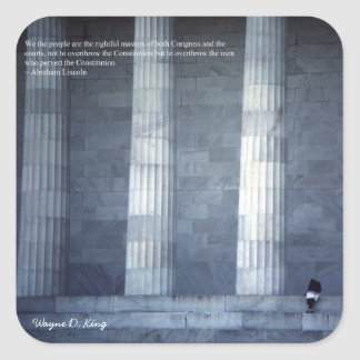 We the People - Lincoln Quote Sticker