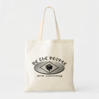 We the People Metallic Shield Logo with Torch Tote Bags