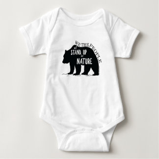 We the people stand up for nature - bear baby bodysuit