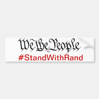 We The People Stand With Rand Bumper Sticker