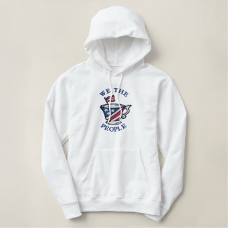We The People Tea Party Emblem Embroidered Hoodie
