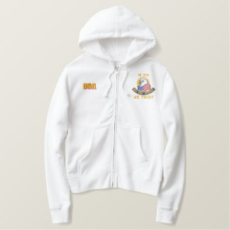 """WE THE PEOPLE"" TEA PARTY EMBROIDERED LADIES SHERPA HOODIE"