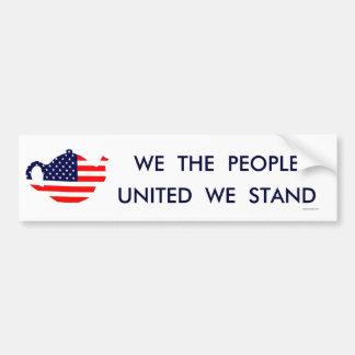 We The People United We Stand Bumper Sticker Bumper Sticker