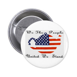 We The People  United  We Stand Button Pinback Buttons