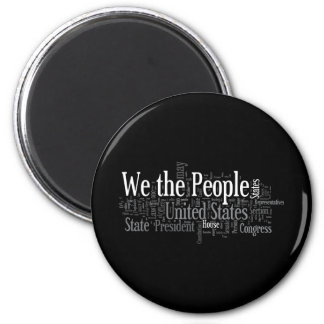 We the People - US Constitution words libertarian Fridge Magnet