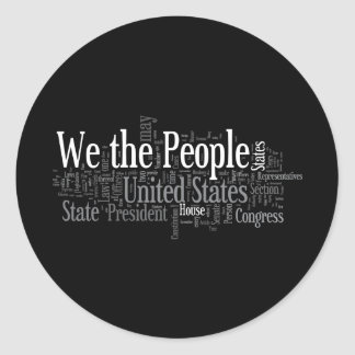 We the People - US Constitution words libertarian Sticker