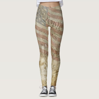 We the People USA Flag Mt Rushmore Legging