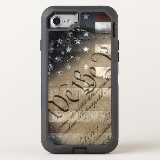 We The People Vintage American Flag OtterBox Defender iPhone 7 Case