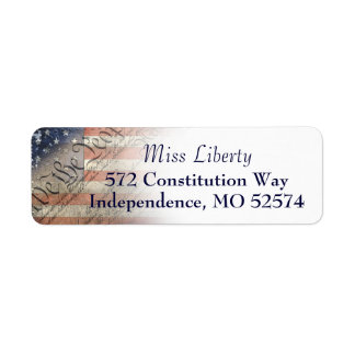 We The People Vintage American Flag Return Labels