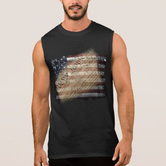 We The People Vintage USA Flag Sleeveless Shirt
