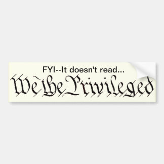 We the Privileged sticker