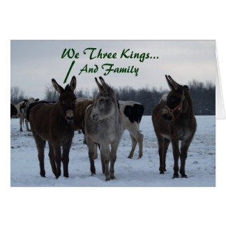 We Three Kings... And Family Greeting Card