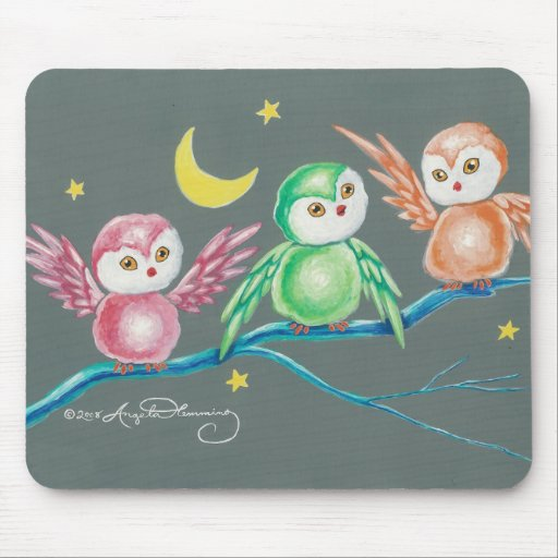We Three Owls Mouse Pads