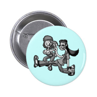 We Truck In Peace Pinback Button