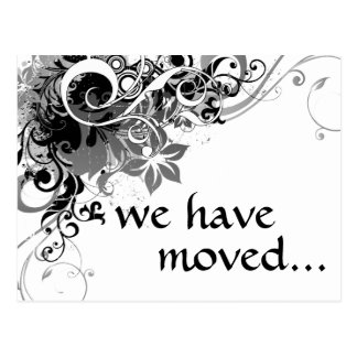 we ve moved announcement post card