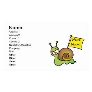We ve Moved Business Cards