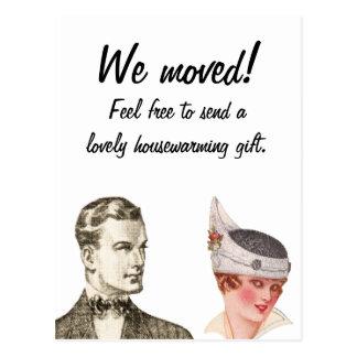 We ve Moved Funny Vintage Post Card