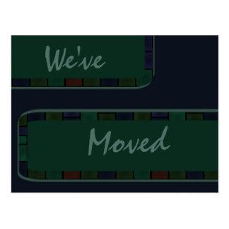 We ve Moved Green art border Post Cards