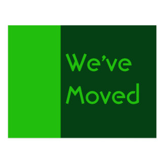 we ve moved green post card