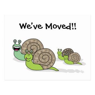We ve Moved House Snails Postcard