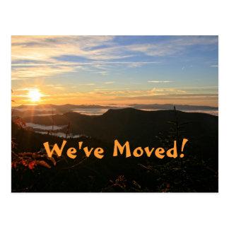 We ve Moved Mountain Sunrise Address Change Postcard