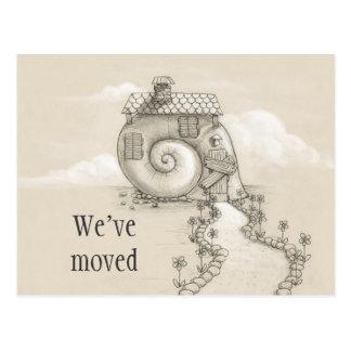 We ve moved new address snail house Postcard