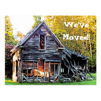 WE VE MOVED POSTCARD PHOTO OF OLD HOUSE