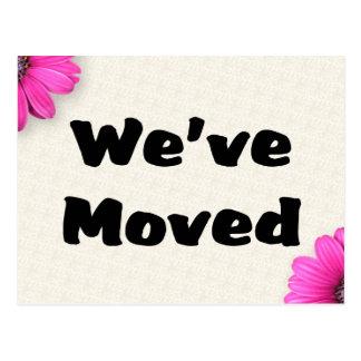 We ve Moved Postcards