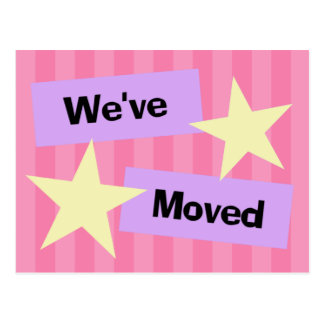 We ve Moved Retro Style Announcement Postcard