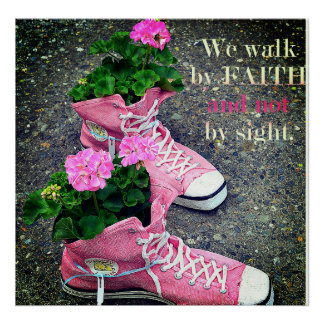 We Walk By Faith Poster