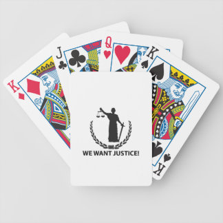 We Want Justice Bicycle Playing Cards