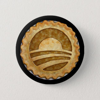 """We Want Pie!"" Obama Pie Button"