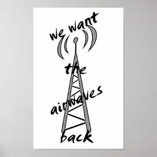 we want the airwaves back print