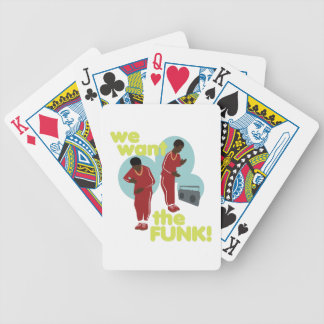 We Want The Funk Bicycle Playing Cards