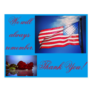We will always remember postcard