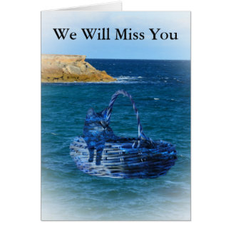 We will Miss You, Cat Sea Adventure Farewell Card