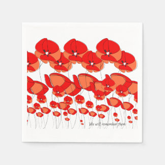 We Will Remember Them Dinner Napkin Serviettes Paper Napkin