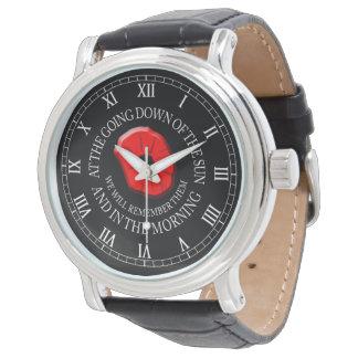 We Will Remember Them. Poppy Watch. Wrist Watch