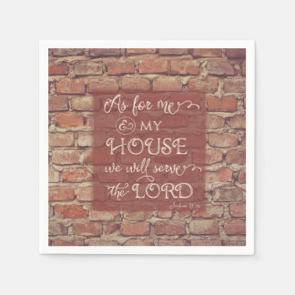 We Will Serve the Lord - Joshua 24:15 Disposable Serviette