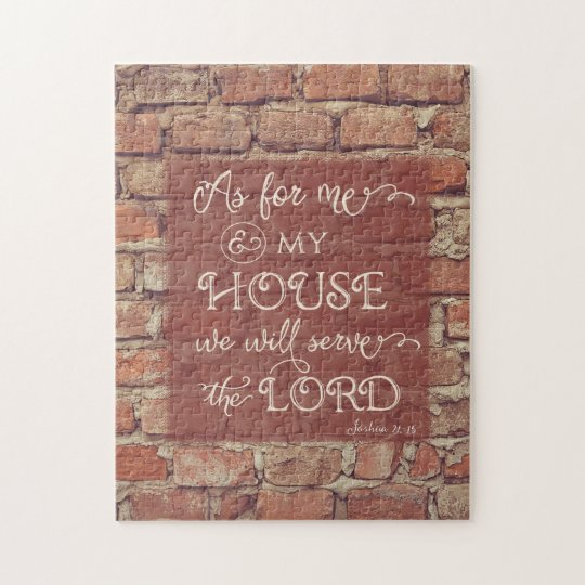 We Will Serve the Lord - Joshua 24:15 Jigsaw Puzzle