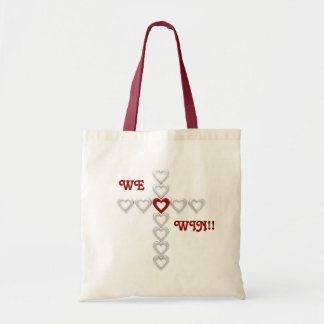 WE WIN!!... Religious totebag Budget Tote Bag