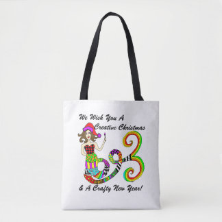We Wish You A Creative Christmas... Mermaid Tote Bag
