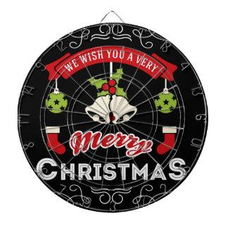 We wish you a Merry Christmas Greeting Dartboard