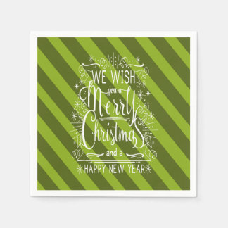 We Wish You A Merry Christmas personalized Napkin Disposable Napkin