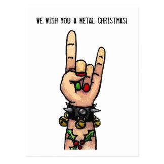 We Wish You a Metal Christmas Postcard